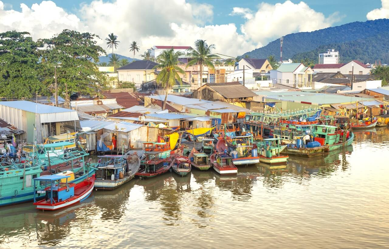 Fishing village in south america
