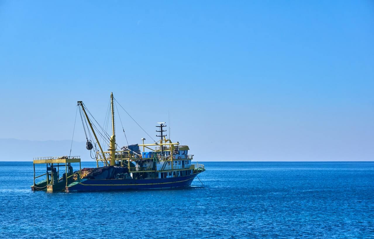Large industrial fishing boat used for overfishing