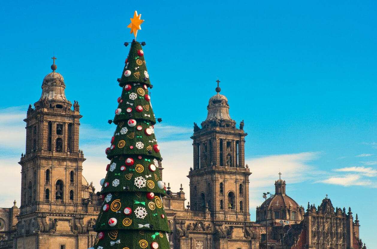 A large artificial tree in Mexico city