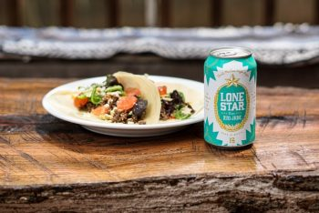 lone star beer and tacos